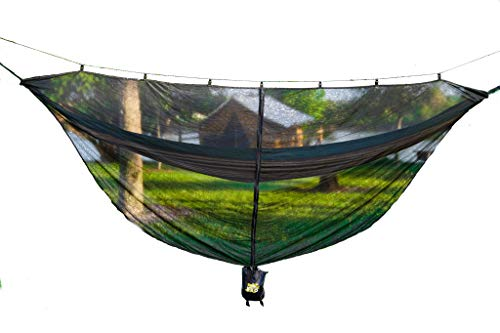 Sunshyne Pro Hammock Bug Net 12 ft Large Mosquito Netting Compatible with All Outdoor Camping Hammock Brands - Portable Anti-Insect Mesh Fits Single and Double Hammocks - Protector from All Bugs