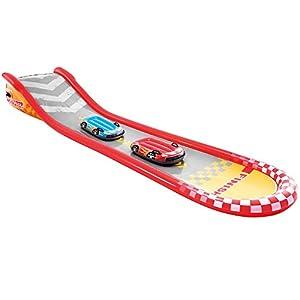 Intex 57167 – Tobogán agua deslizante para niños a partir de 6 años, con 2 tablas de surf, pulverizador de agua, 561x119x76 cm