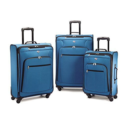 American Tourister Pop Plus 3 Piece Set Blue (Piece Tourister American 3)
