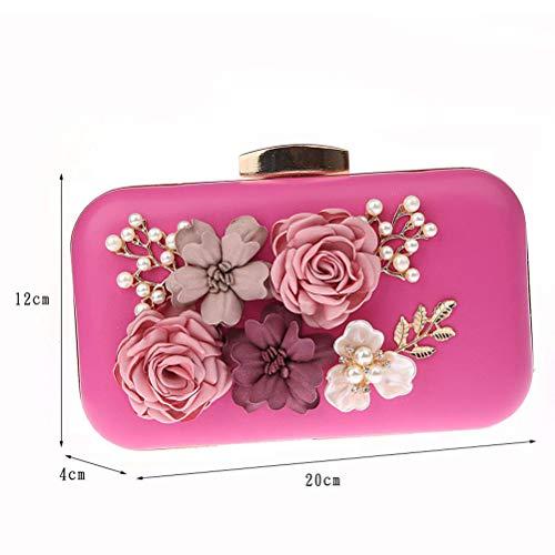 Borse Le Abiti Banchetti Gshe Per Da Per Pochette Fiori Per Donne Bag Coreani rose Pink Nozze Di Sera Borsa Di YOY8xq