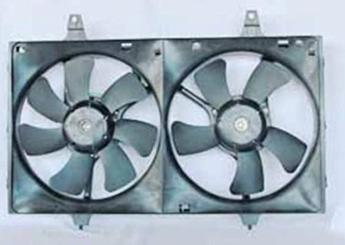 NEW DUAL RADIATOR CONDENSER FAN ASSEMBLY FITS 1995-1999 NISSAN MAXIMA W/CA EMISSION ()