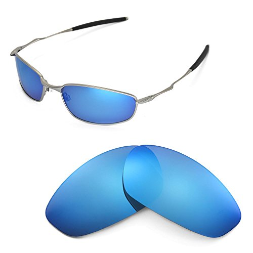 Walleva Replacement Lenses for Oakley Whisker Sunglasses - Multiple Options Available (Ice Blue Coated - - Whisker Oakley Replacement Lenses