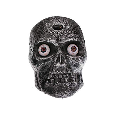 Livoty Halloween Skull Decorate Prop Party Bar Haunted House Ornament Luminous Can Make Sound -