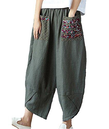Linen Blend Casual Pants - 5