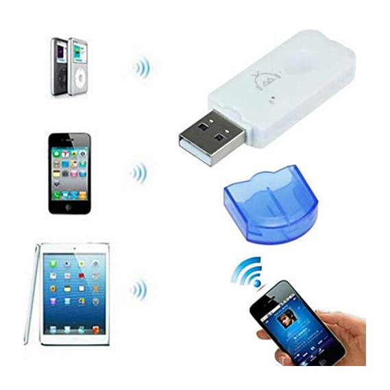 Ionix USB Bluetooth Dongle Car Bluetooth 4.0 USB Music Audio Receiver Wireless Bluetooth Audio Music Adapter Car