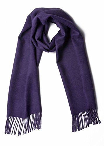 Luxury 100% Pure Baby Alpaca Scarf, for Men and Women - A Great Gift Idea in Many Colors (Purple)