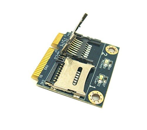 Dual Micro SDXC SDHC SD to Mini PCI-e Adapter Card