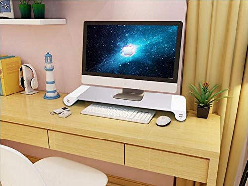Lalago Monitor Stand Computer TV Riser - Reduce Neck Pain, Keyboard Storage Office Desk Drawer Organizer with 4 Ports 3.1A Quick Charge USB Power Charging Station by Lalago (Image #7)