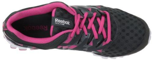 Reebok Chaussures Femmes Realflex Scream 3.0 Chaussure De Course Gravier / Plat Gris / Rose Bonbon / Acier / Blanc