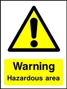 40cmx30cm zona de riesgo (adhesivo etiqueta señal)