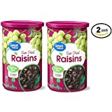 Great Value Sun-Dried Raisins, 20 oz (Fat Free and Cholesterol Free) - Pack of 2
