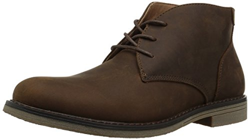 Nunn Bush Men's Lancaster Plain Toe Chukka Boot, Brown, 9.5 Wide