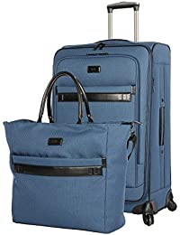 "Coralie Collection 2-Piece Luggage Set: 20"" Expandable Spinner and Tote Bag"