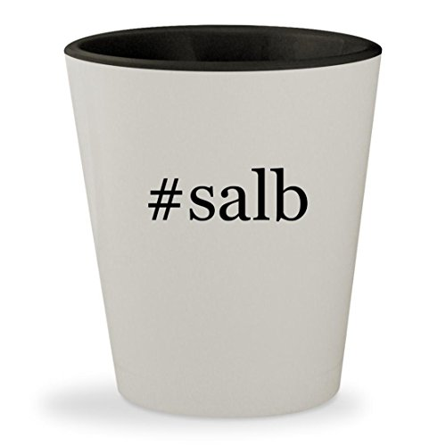 Price comparison product image #salb - Hashtag White Outer & Black Inner Ceramic 1.5oz Shot Glass