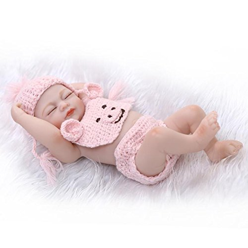 Terabithia Mini 10 Real Life Beautiful Dreamer Newborn Baby Doll Full Silicone Vinyl Collectible Toys Pink for Girl