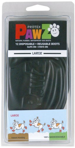 Pawz Dog Boots (Black) (L)