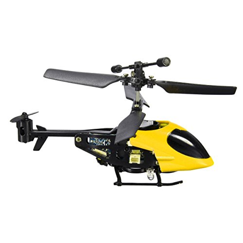 Annvivi Super Mini QS QS5013 2.5CH Micro Remote Control RC Helicopter Best Christmas Gift for Boys (Yellow)