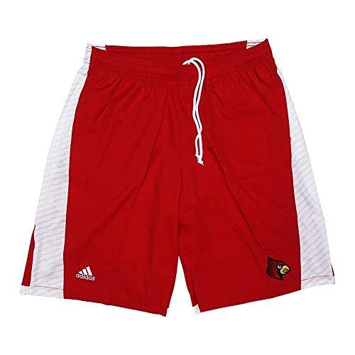 adidas Louisville Cardinals NCAA Mens Football Sideline Red Shorts - Louisville Cardinals Ncaa Drawstring