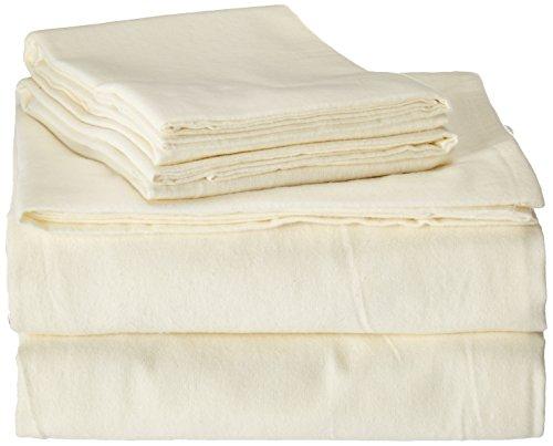 Brielle Cotton Flannel Sheet Natural