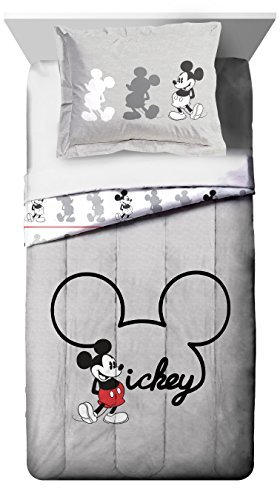 Jay Franco Disney Mickey Mouse Jersey Twin/Full Comforter - Super Soft Kids Reversible Bedding Features Mickey Mouse - Fade Resistant Polyester Includes 1 Bonus Sham (Official Disney -