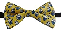 "Minions Yellow Bow Tie Cotton Adult 4.5"" x 2.5"" Adjustable to 18 Inches …"