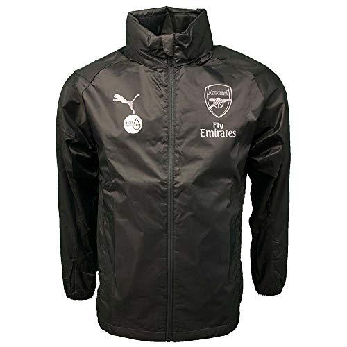 PUMA 2018-2019 Arsenal Rain Jacket (Iron Gate) ()