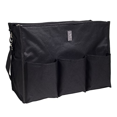 - Wheelchair Bag for Back of Chair w/ 5 Exterior & 5 Interior Pockets - Perfect Carrier Bag for Newspaper, Medical Paperwork, Blanket & More for Most Electric, Manual or Power Wheelchairs (Black)