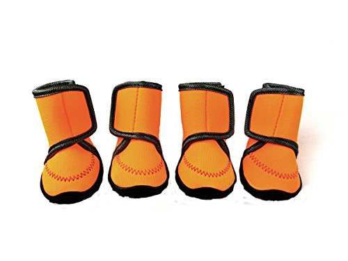Xanday Dog Boots Waterproof Dog Shoes Paw Protectors with Adjustable Straps and Wear-resisting Soles 4 Pcs