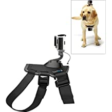 Original GoPro Fetch (Dog Harness) back and chest strap For Hero4 Hero3+ Black Silver + 32GB Micro SD Card + Flexible Tripod Kit