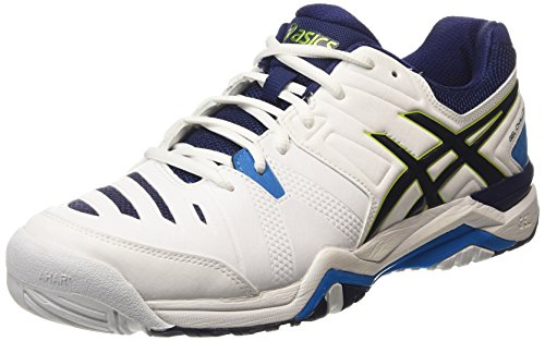 ASICS Gel-Challenger 10 Mens Tennis Shoes E504Y Sneakers Trainers (UK 8 US 9 EU 42.5, White Lime Blue 0105) (Asics Gel Challenger)