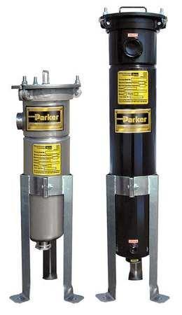 Parker CBC1D2T Filter-Bag Housing, Carbon Steel, Requires Bag 7.5'' OD X 31.5'' Length, 160 gpm, 2'' NPT by Parker