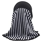 LUNIWEI Child Muslim Hat Stretch Turban Hats Chemo Cap Headwrap Hair Head Scarf Shower Caps Black