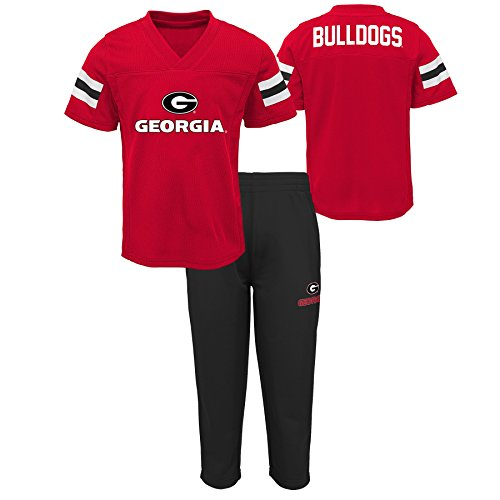 NCAA Georgia Bulldogs Toddler Training Camp Top & Short Set, 2T, Red