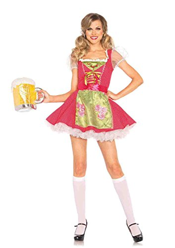 2pc. Beer Garden Gretel Costume Bundle with Rave Shorts (Adult Gretel Costume)