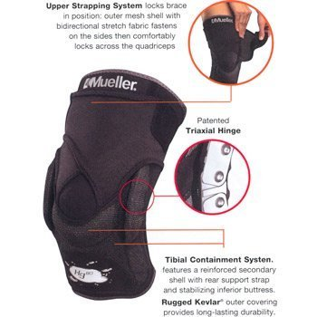 4fa0a3cb15 Amazon.com: Knee Hinged Brace Mueller With Kevlar Hg80 Small 30-35cm ...