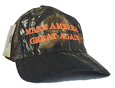 Make America Great Again Donald Trump Camo Hat - Mossy Oak Break up Mesh Back