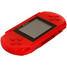 PomeMall PXP 3 Handheld Portable LED Game Console Slim Station, 16 Bit Retro Video, 2 Extra Cartridge, 150+ Games (Red)