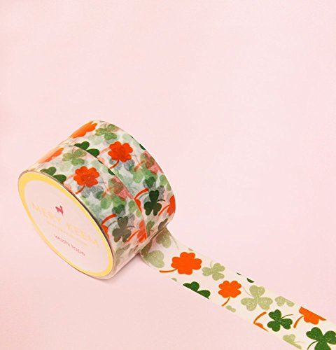 Shamrock Clover Flower Washi Tape for Planning • Scrapbooking • Arts Crafts • Office • Party Supplies • Gift Wrapping • Colorful Decorative • Masking Tapes • DIY from MERYKEEM