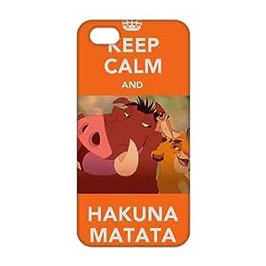 Ultra Thin Keep Calm and Hakuna Matata 3D Phone Case for iPhone 5s