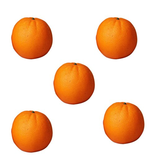 DDLBiz 5pcs Orange Plastic Artificial Fruit Plastic Food Fake Fruit Home Decoration by DDLBiz (Image #2)
