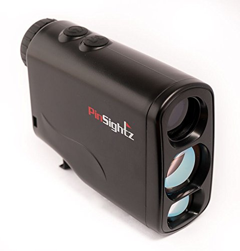 PinSightz Rangefinder - Golf Range Finder - Laser Rangefinder - Great for Golf Hunting Racing - Scan - Slope - Fog - Speed - Unique Distance Correction and More - FREE Case & Battery by PinSightz