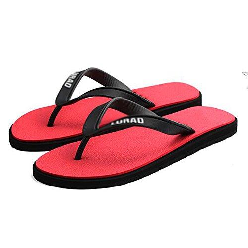 XIAOLIN Zapatillas para hombre Sandalias al aire libre antideslizantes de verano Sandalias para hombre de goma casual Trend (Una variedad de colores para elegir) (Tamaño opcional) ( Color : 01 , Tamañ 04