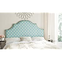 Safavieh Mercer Collection Hallmar Blue & White Striped Arched Headboard, King