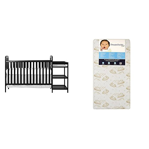 Dream On Me 4 in 1 Full Size Crib and Changing Table Combo with Dream On Me Spring Crib and Toddler Bed Mattress, Twilight by Dream On Me (Image #1)