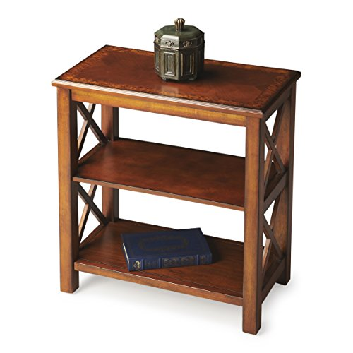 Butler Specialty Company Bookcase, Olive Ash Burl For Sale