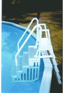 Toda escalera resina Escalera exterior de seguridad: Amazon.es: Jardín
