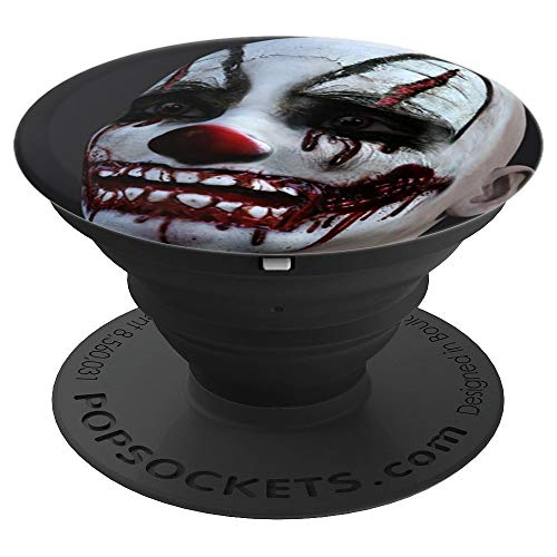 Clown Phone Holder Scary Halloween Smiley Face Creepy Circus - PopSockets Grip and Stand for Phones and Tablets -