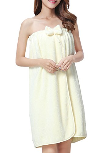 Only Faith Women's Shower and Bath Towel Wrap Pure Cotton Robe Cover Up (beige) by Only Faith-towel