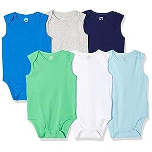 Amazon Essentials Baby Girl's 6-Pack Sleeveless Bodysuits