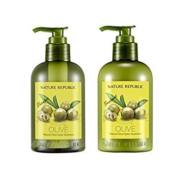 - Nature Republic Natural OLIVE Hydro Shampoo & Conditioner SET for Thickening Hair and Preventing Hair Loss